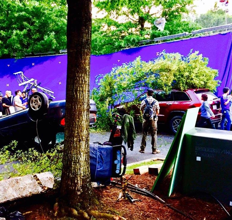 Godzilla 2 frame from shooting