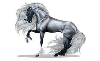 лошадь графика