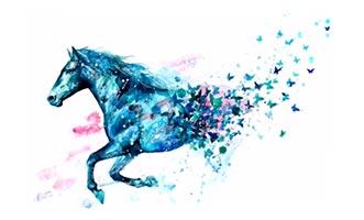 лошадь арт