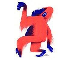 красная обезьяна