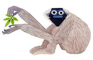 обезьяна арт