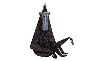 черная обезьяна арт