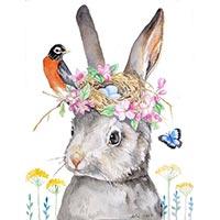 кролик с птичкой