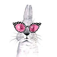 кролик в очках арт