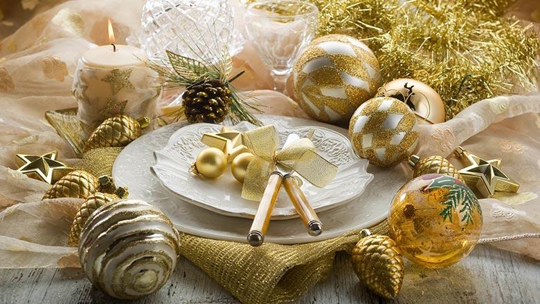 новогодний декор желтый