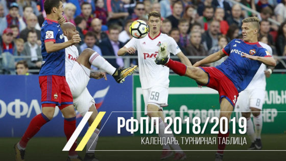 премьер лига 2018 2019