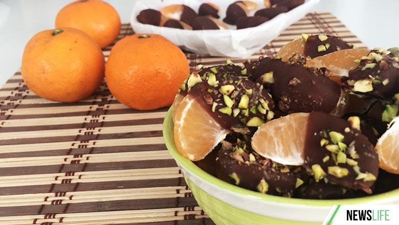мандаринки в шоколаде