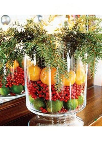 новогодний декор ваза
