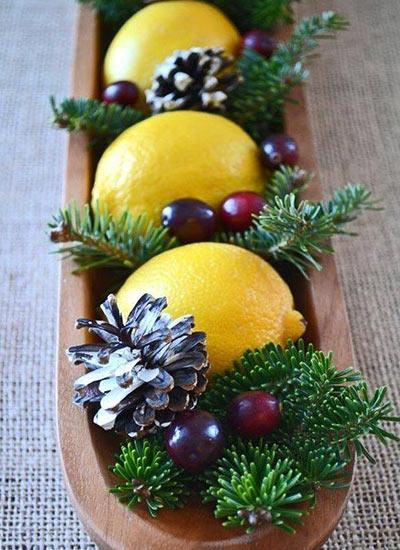 новогодний декор лимоны