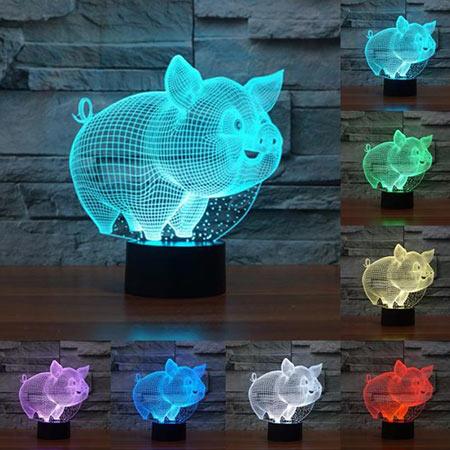 лампа свинюшка