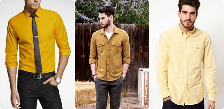 желтые рубашки