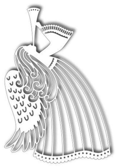 ангел трафарет