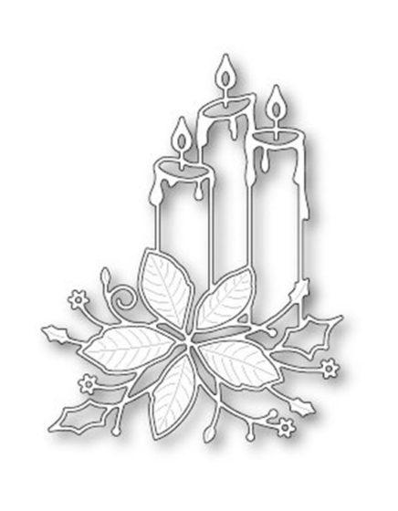 свеча трафарет