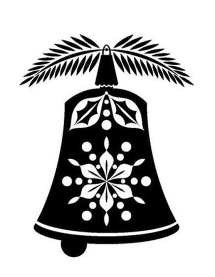 колокольчик трафарет
