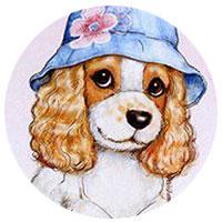собака в панамке